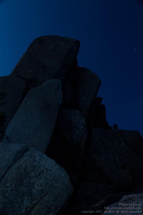 月夜の御在所に登ってきた。(7合目)