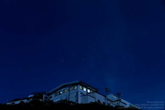 月夜の御在所に登ってきた。(ロープウェー駅)