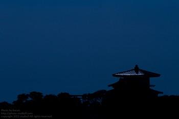 月夜の御在所に登ってきた。(神社)