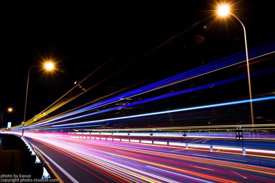 遅いシャッタースピードの写真(コンポジット)