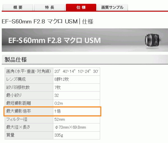 EF-S 60mm F2.8マクロ