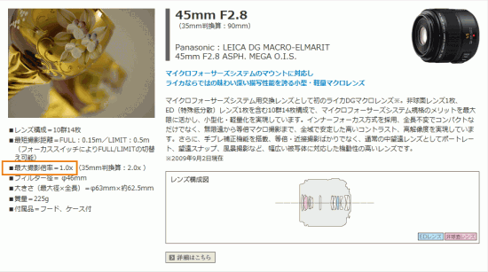 LEICA DG MACRO-ELMARIT 45mm F2.8