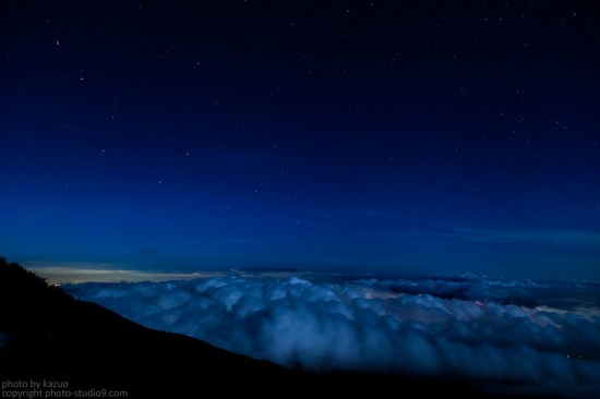 雲海と北斗七星