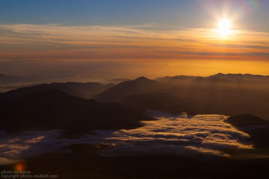 山中湖(御来光後)
