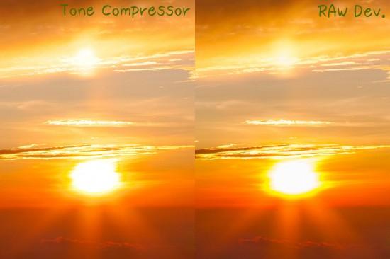 太陽の周りを比較