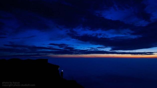 富士山夜明け