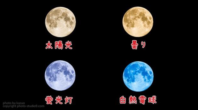 ホワイトバランスと月の色