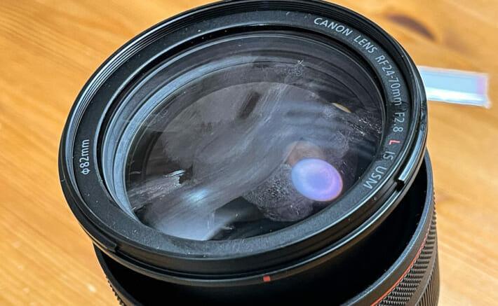 レンズクリーニング レンズの汚れ
