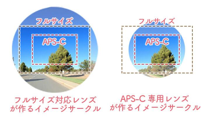 フルサイズとAPS-Cの違い