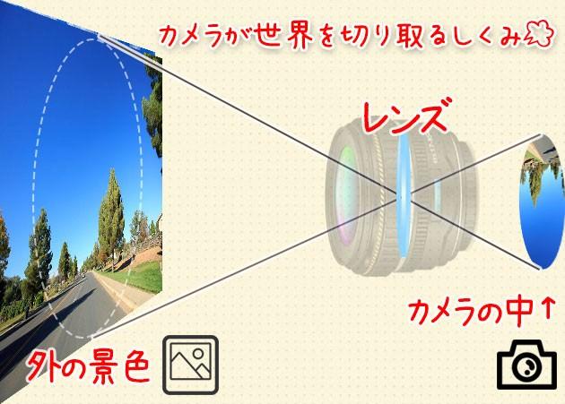 レンズは丸いのに写真は四角い イメージサークル