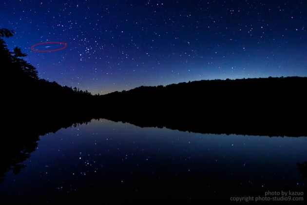 星の撮り方 流れ星