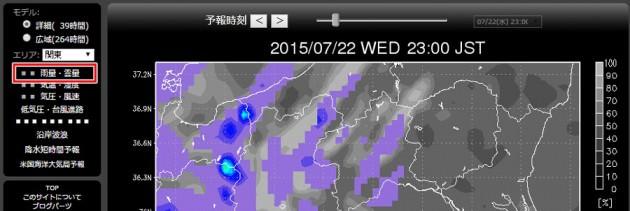 星の撮り方 GPV気象予報