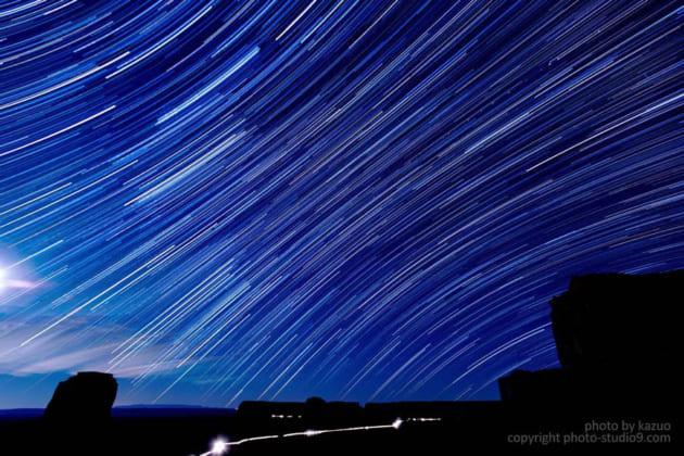 星の撮り方 軌跡で撮る