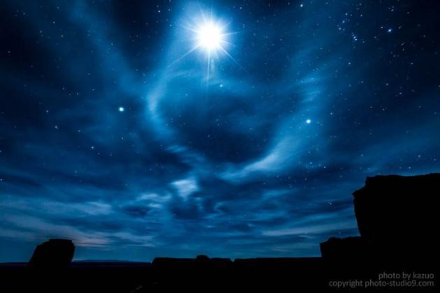 星空 月明かり