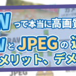 RAWとJPEGの違い メリットデメリット