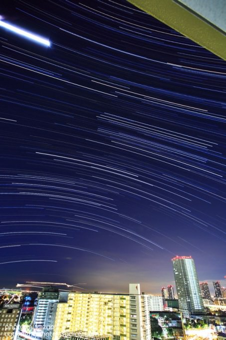 星の軌跡撮影 都内