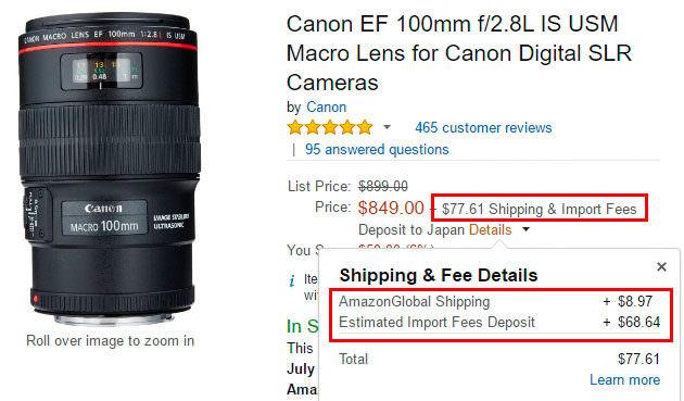 カメラ機材の海外通販 Amazon