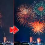 Photoshopで花火写真の合成