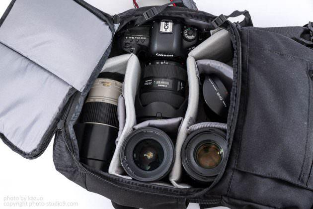 studio9オリジナルカメラバッグ Endurance レンズフード