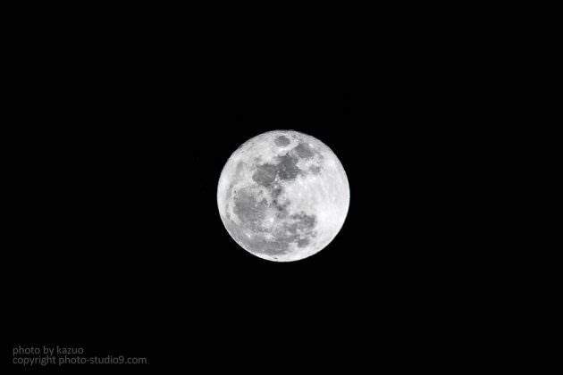 満月 超望遠