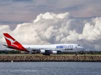 QFA 747-400 at SYD