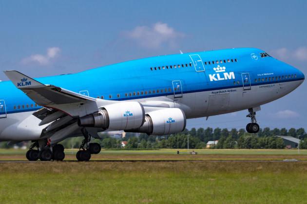 KLM 747-400 at AMS