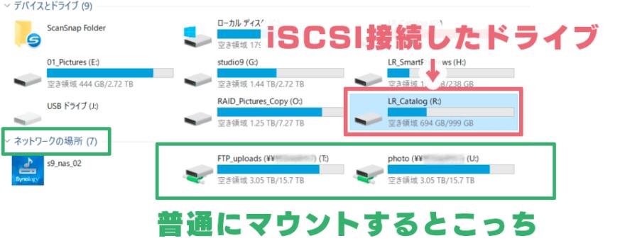 Lightroom NAS運用 iSCSI