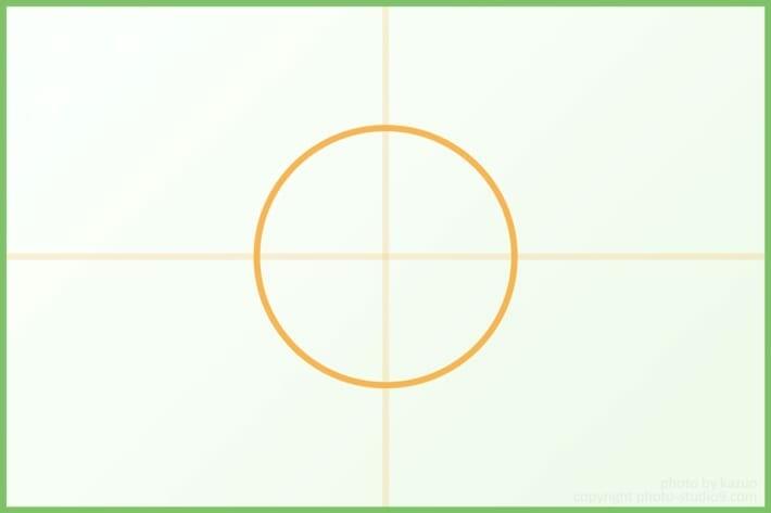 日の丸構図 構図