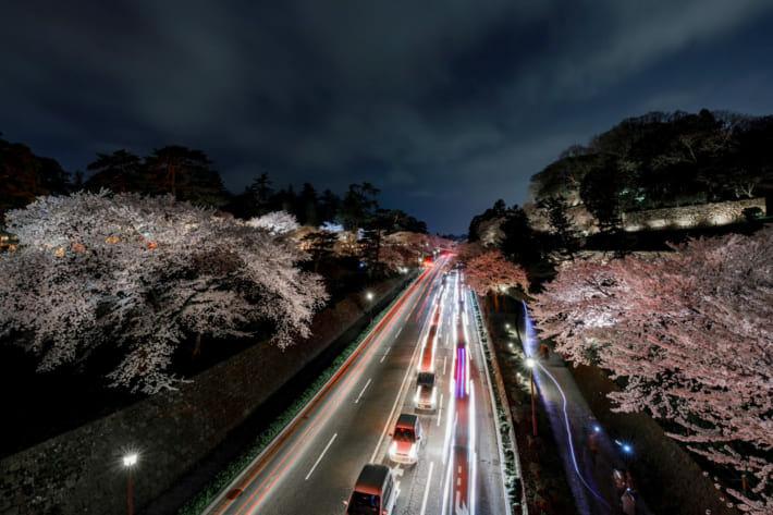 金沢城公園スローシャッター