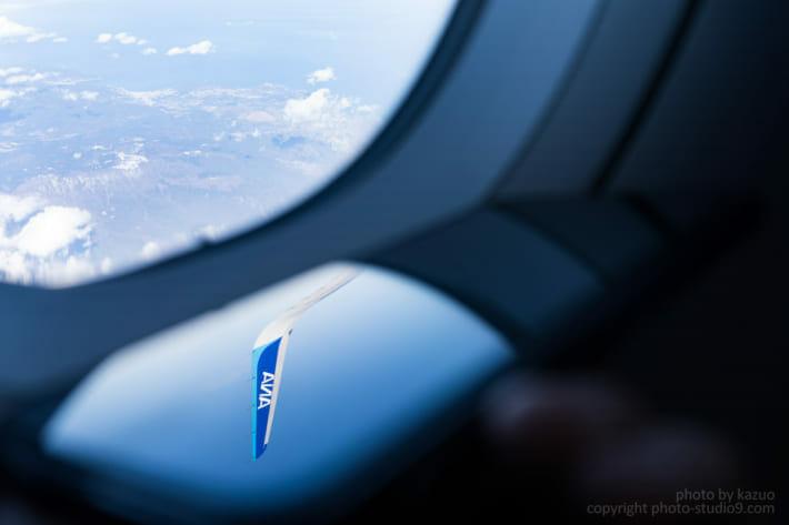 機内から写り込み