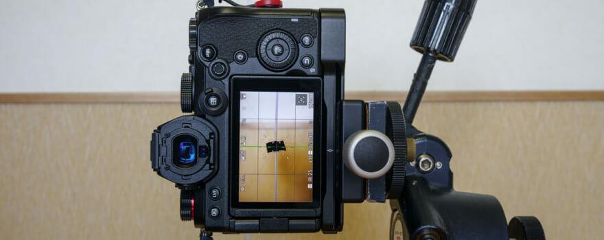 カメラの水準器チェック方法